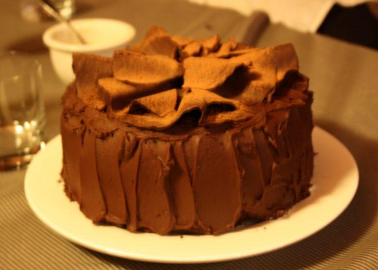 naked choc cake