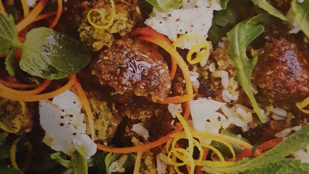 Falafel, Feta & Rice Salad