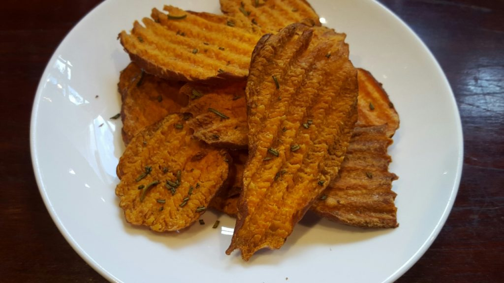 Sweet Potato Crisps with Sea Salt & Rosemary
